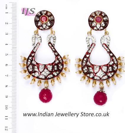 Neha Large Indian Earrings ESRA04347