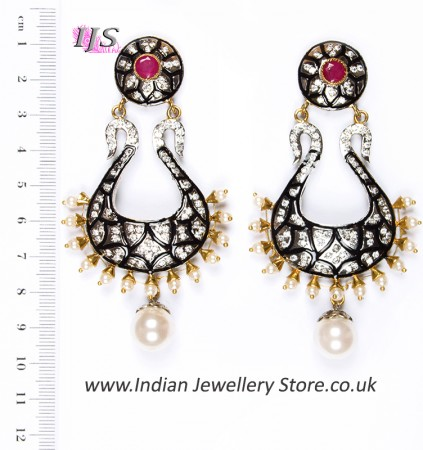 Neha Large Indian Earrings ESRA04349
