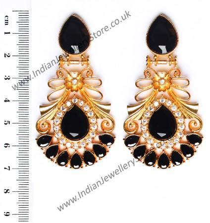 Large Matt Gold Earrings - Rangeela EEBA10382