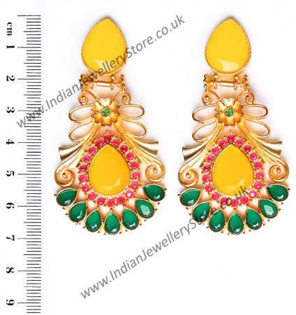 Large Matt Gold Earrings - Rangeela EEYA10389