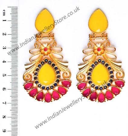 Large Matt Gold Earrings - Rangeela EEYA10390