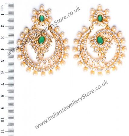 Keerat Fine American Diamond Chand Bali EEGA10413
