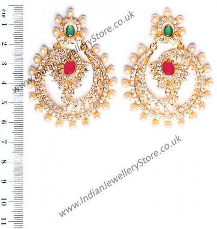 Keerat Fine American Diamond Chand Bali EEPA10415