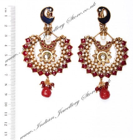 Large Peacock Earrings EARP03817