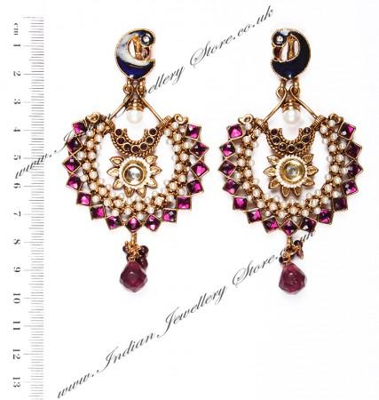 Large Peacock Earrings EAUP03822