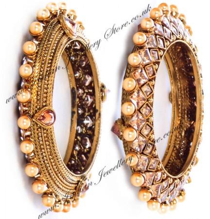 1 x Designer Golden Stone Bangles WANA10168