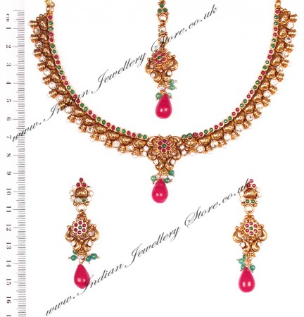 Delicate Indian Necklace Set NAAP03648