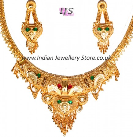 22k Effect Indian Necklace Set NGAP04699