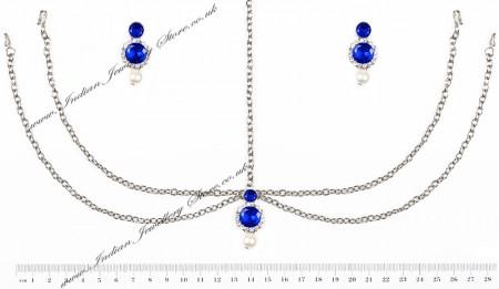 Silver Earrings & Mathapatti - Kamal DSWC10616C