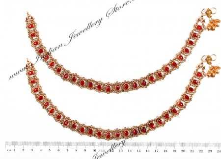 Polki Indian Anklet / Payal YARP04455