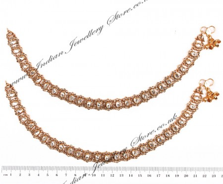 Polki Indian Anklet / Payal YAWP04456