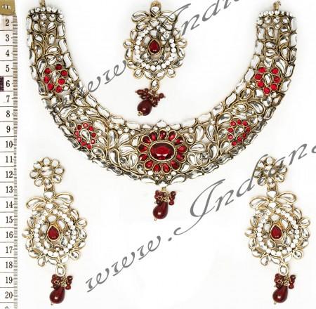 Kundan Necklace Set NARK02673