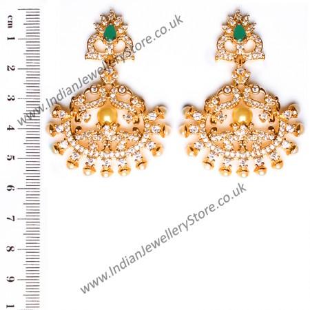 Fine American Diamond Peacock Chand EEGA10407