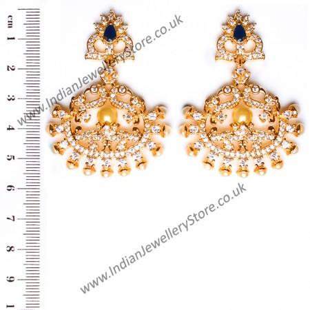 Fine American Diamond Peacock Chand EELA10409