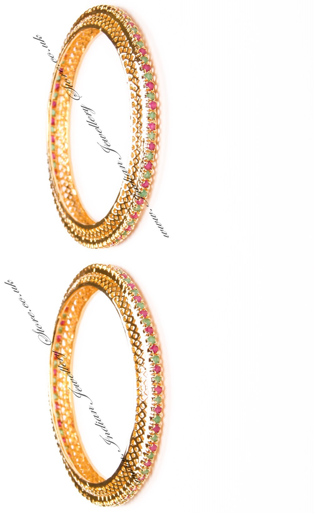 Buy 2 X Gold Effect Bangles 2 8 Wgma03615 Indian