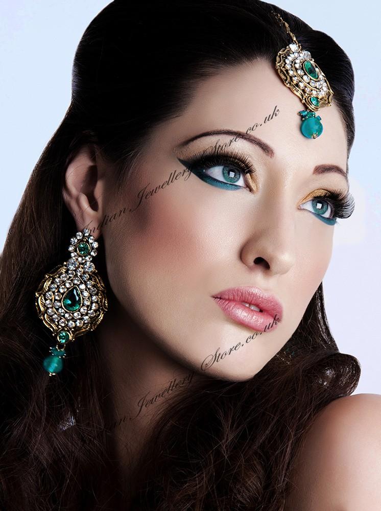 Earrings Amp Tikka Set Ayeesha Indian Jewellery Store Uk Usa