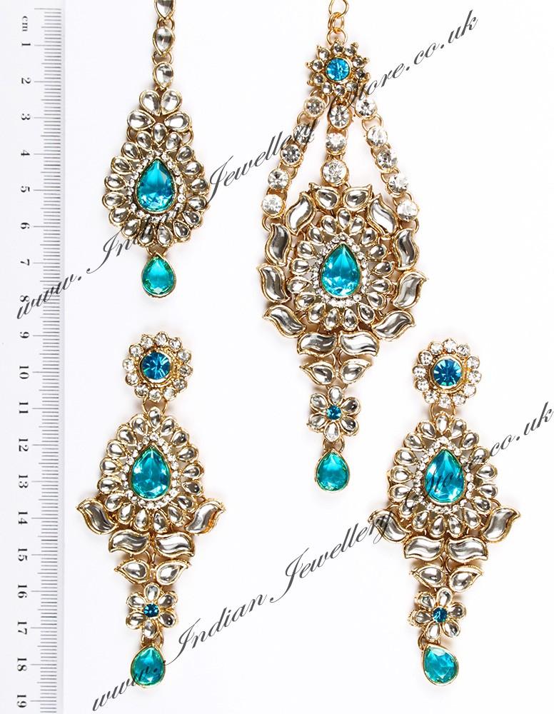 Kundan Ear Tikka Passa Rhumi Indian Jewellery Store Uk Usa