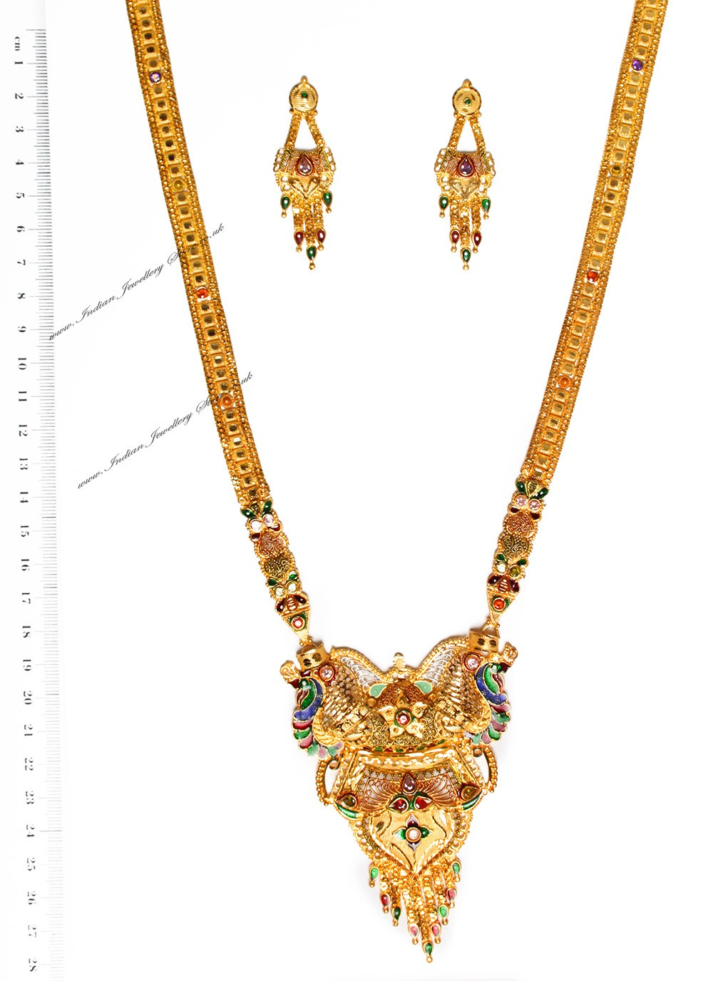 Buy 22k effect peacock rani haar ngmp04687 indian for 22k gold jewelry usa