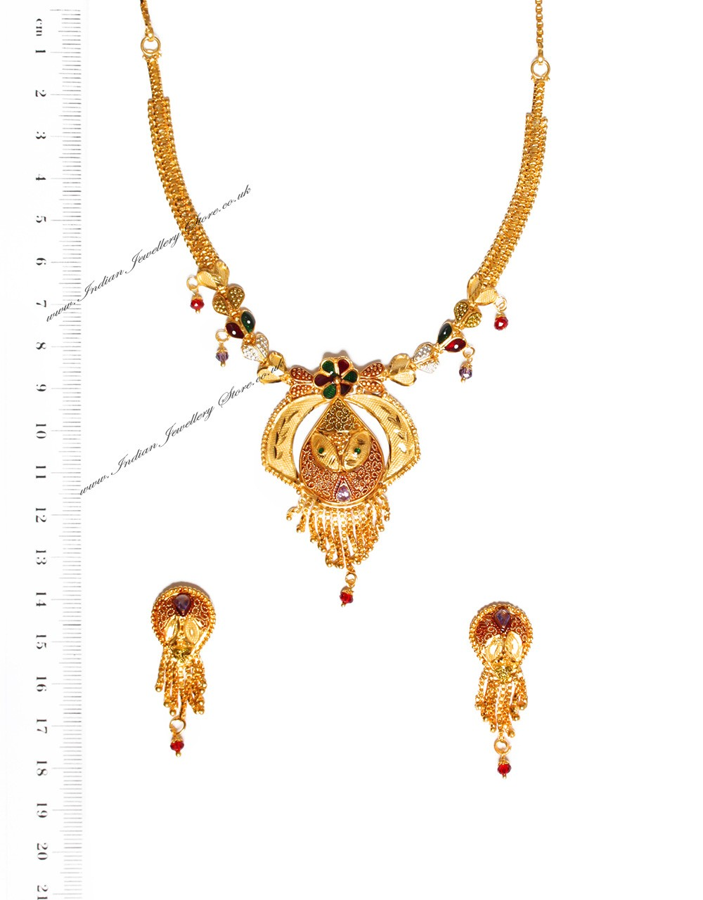 Buy 22k effect indian necklace set ngmp04691 indian for 22k gold jewelry usa