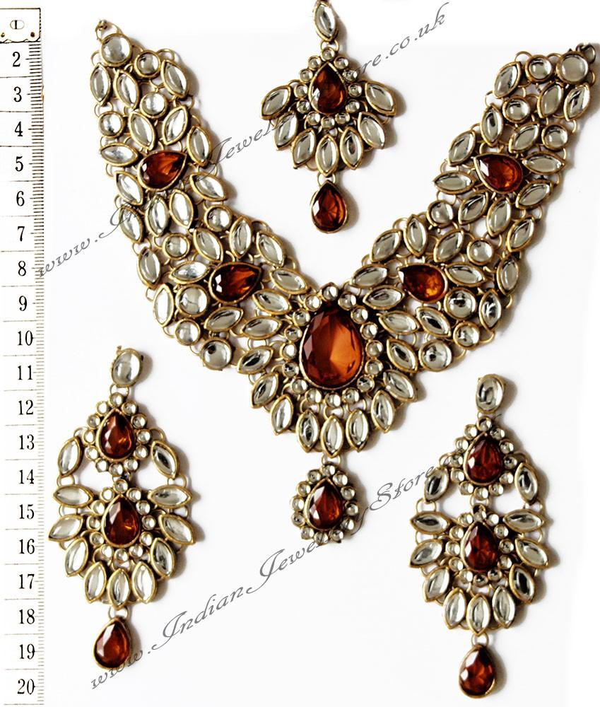 Buy Kundan Choker Necklace Priya Nacc10438c: Buy Kudan Necklace Set - KIMI NACK10440C