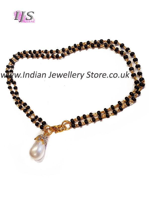Pearl Hand Mangalsutra Bracelet Indian Jewellery Store