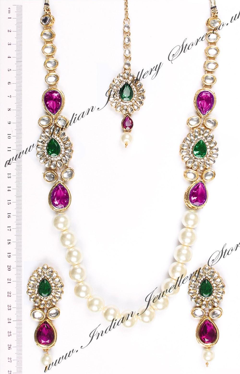 Buy Dhoop Long Pearl Mala Namk04710 Indian Jewellery Store
