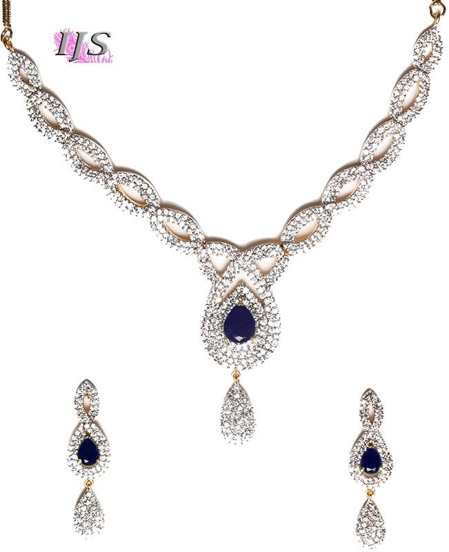 Buy American Diamond Necklace Set Ngla04727 Indian