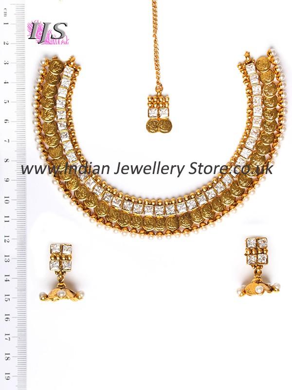 Delicate Tradtional Set Saraswati Indian Jewellery