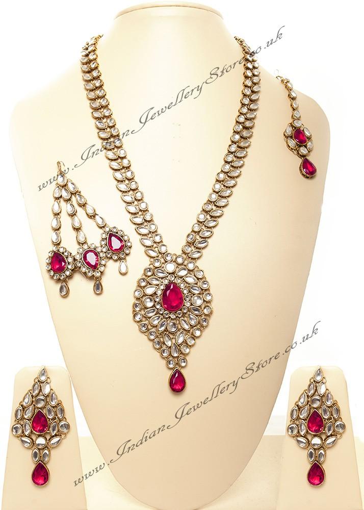 Buy Jhumar Amp Rani Haar Set Rona Nawk10541c Indian
