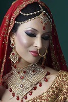 Gold American Dimaond Choker Bridal Set - Aasha BGRA0530C Indian Jewellery