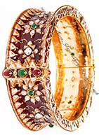 1 x Maroon Indian Meenakari Bangle 2.8 WGAP02981 Indian Jewellery