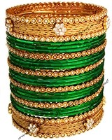 6 x Pearl Indian Bangles, 2.6 WAWC04823 Indian Jewellery