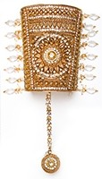 1 x Indian Bangle: Rajasthani Cuff & Hanth Panja, 2.6 WAWC04830 Indian Jewellery