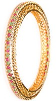 2 x Gold Effect Bangles, 2.8 WGMA03615 Indian Jewellery