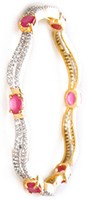 2 x Indian Wave Bangles, 2.8 WGRA04209 Indian Jewellery