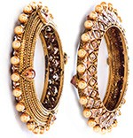 1 x Designer Golden Stone Bangles WANA10171 Indian Jewellery