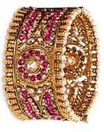 1 x Jaswinder Wide Bangle WACA10190C Indian Jewellery