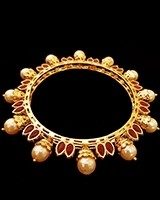 2 x Gold plated Jaipur Indian Bangles 2.4, 2.6, 2.8 WERL11107C Indian Jewellery