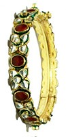 2x Kundan Bangles 2.6 WGWK0182 Indian Jewellery