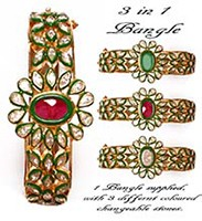1 in 3 Colour Changeable Bracelet WGWA02915 Indian Jewellery