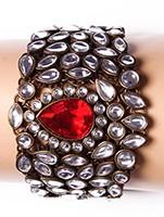 Wide Kundan Bracelet WARK03567 Indian Jewellery