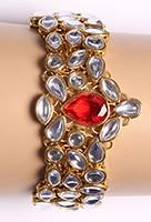 Kundan Bracelet WGRK03571 Indian Jewellery
