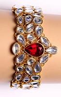 Kundan Bracelet WGRK03572 Indian Jewellery