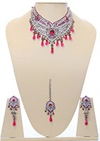 Silver Necklace Set BSPC10034 Indian Jewellery
