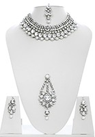 Fashion Pearl Necklace Set NSWC10441 Indian Jewellery