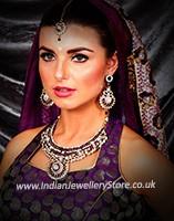 Antique Necklace Set - Yasmeen NACC10454C Indian Jewellery