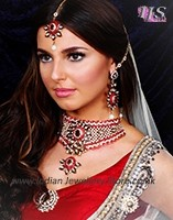 Choker Necklace Set - Krissey BARC10477 Indian Jewellery