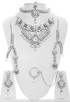 Kundan & Pearl Bridal Set - Vashita BSWL10508 Indian Jewellery