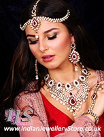 Kundan & Pearl Bridal Set - Vashita BAWL10507C Indian Jewellery