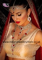 Clean Kundan Bridal Set - Pooja BARK10582C Indian Jewellery